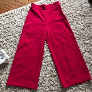 ZARA  hot pink high waisted crop pants